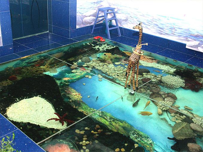 Как сделать аквариум в полу своими руками 84